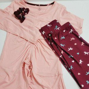 One Step Up Girls 3Pcs Knit Top and Legging Set.